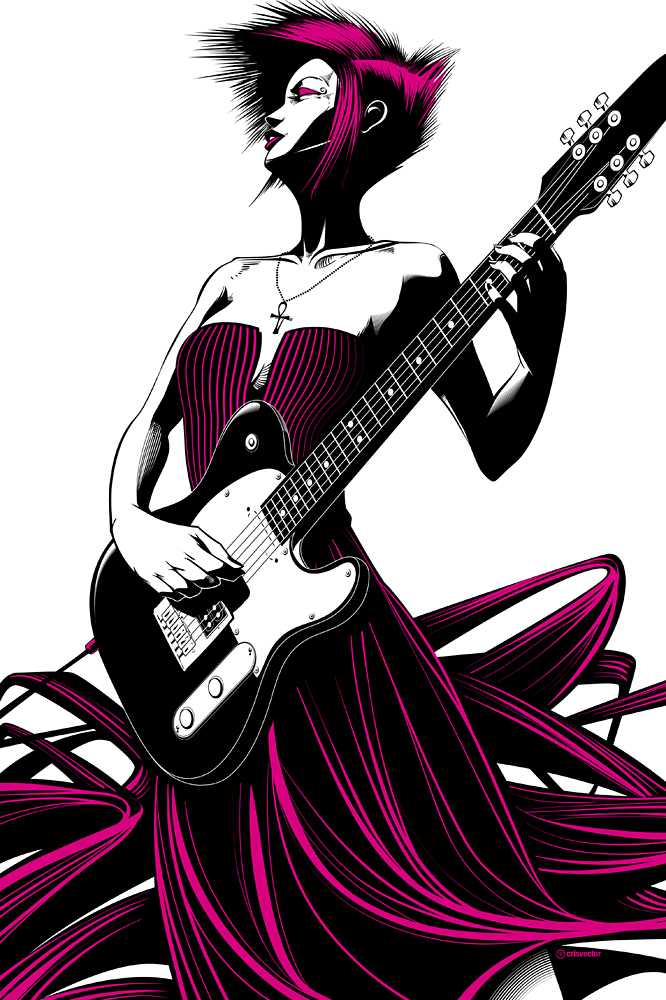 Guitar Heroine by Cristiano Siqueira + 