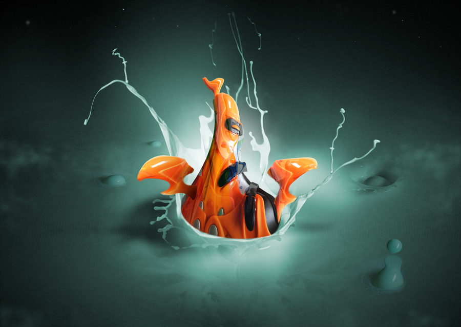 Return of the legendary orange Blob by Alex van Daalen +